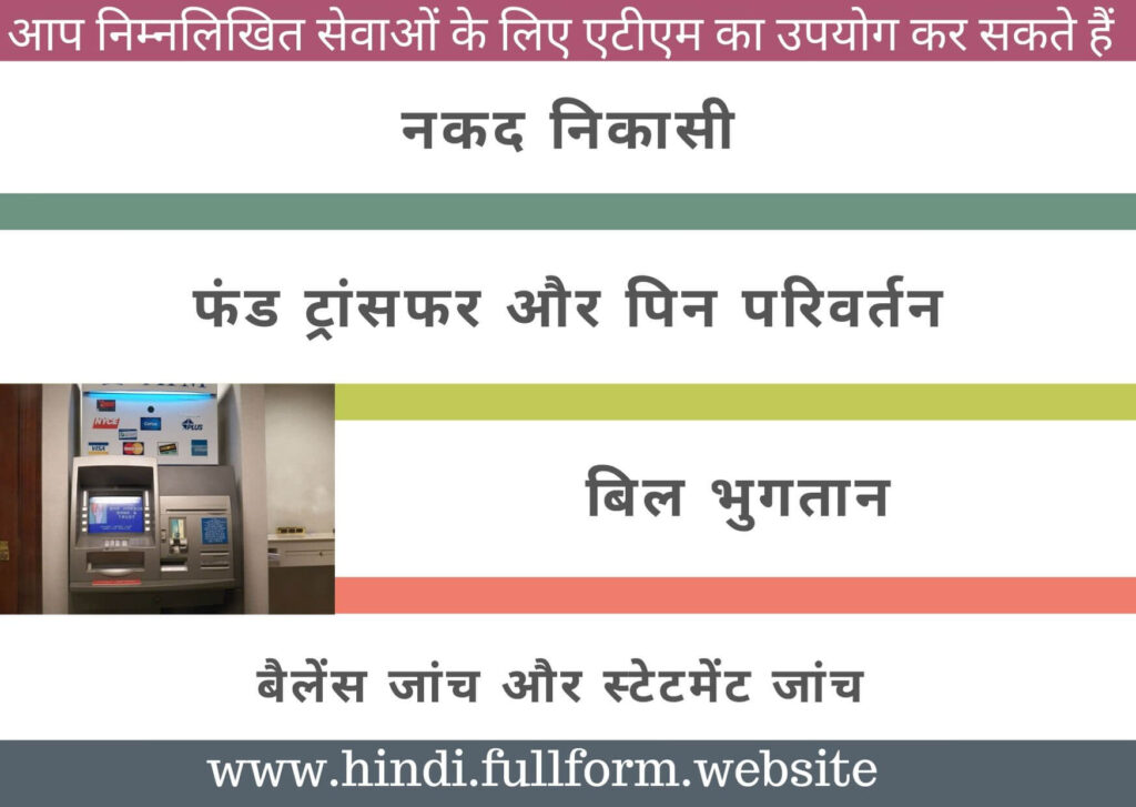 services at atm in hindi